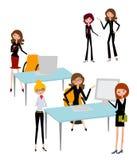 Het bedrijfsvrouwen werken Stock Fotografie