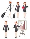 het bedrijfsvrouwen werken en zakenreis Stock Foto's
