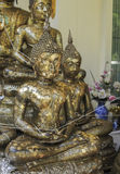 Het beeld dievan OldÂbuddhas met bladgoud behandelen Stock Fotografie