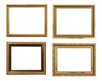 Het beeld gouden frames van de inzameling Royalty-vrije Stock Fotografie