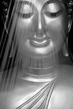Het beeld of het standbeeld van Boedha Stock Fotografie