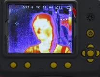 Het beeld in thermisch Stock Foto's