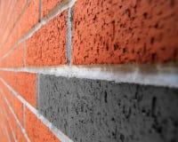 Het beeld van het bakstenen muurperspectief royalty-vrije stock afbeelding