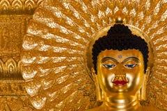 Het beeld van Boedha als amuletten van Boeddhismegodsdienst die wordt gebruikt Stock Afbeelding