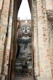 Het Beeld van Boedha bij Wat Srichum In Sukhothai Historical-Park Royalty-vrije Stock Afbeeldingen