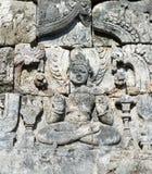Het beeld van Boedha in Boeddhistische complex van Candi Sewu, Java, Indonesië Royalty-vrije Stock Afbeeldingen