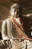 Het beeld van Boedha in boeddhistische tempel Myanmar Birma Yang royalty-vrije stock foto's