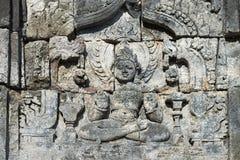 Het beeld van Boedha in complexe Candi Sewu Buddhist, Java, Indonesië Royalty-vrije Stock Foto