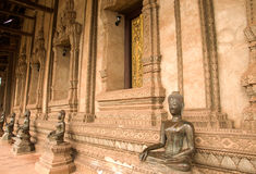Het beeld van Boedha in Ho Pra Keo Temple Vientiane Stock Afbeelding