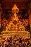 Het beeld van Boedha in kerk van Wat Pho Thailand Royalty-vrije Stock Afbeeldingen