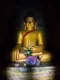 Het beeld van Boedha in Mrauk-U, Myanmar Stock Foto's