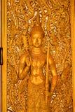 Het beeld van Boedha op de deur Royalty-vrije Stock Afbeelding