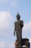 Het beeld van Boedha status Stock Foto