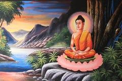 Het beeld van Boedha in Thaise stijl Stock Foto