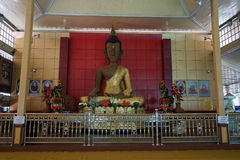 Het Beeld van Boedha van de bamboedraad Stock Afbeeldingen