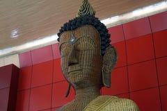 Het Beeld van Boedha van de bamboedraad Stock Foto's