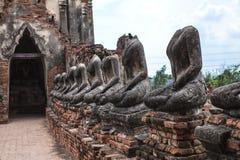 Het beeld van Boedha van Wat Chai Wattanaram Ayuthaya Stock Fotografie