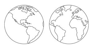 Het beeld van de aarde stock illustratie