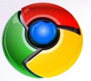 Het beeld van de close-up van chroombrowser Stock Afbeeldingen