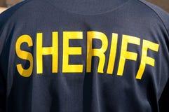 Het beeld van de close-up van een rug van een politieman Royalty-vrije Stock Foto