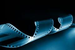 Het beeld van de close-up van het krullen van 35mm film Stock Afbeeldingen