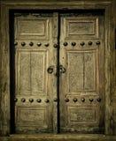 Het beeld van de close-up van oude deuren Stock Afbeelding