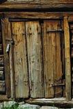 Het beeld van de close-up van oude houten deur Stock Foto's