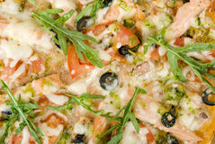 Het beeld van de close-up van pizza stock foto's