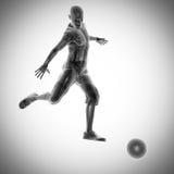 Het beeld van de de spelerradiografie van het voetbalspel Stock Afbeelding