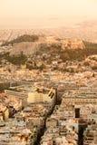 Het Beeld van de de Stadshorizon van Athene, Griekenland Royalty-vrije Stock Fotografie