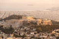 Het Beeld van de de Stadshorizon van Athene, Griekenland Stock Afbeeldingen
