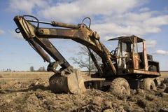 Het beeld van de tractor in de modder Royalty-vrije Stock Fotografie
