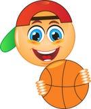 Glimlach, basketbal, bal Stock Afbeeldingen