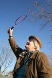 Het beeld van de voorraad van badmintonspel Stock Foto's