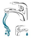 Het beeld van de waterkraan vector illustratie