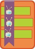 Het beeld van een sticker met TV Stock Foto
