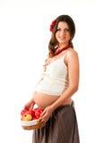 Het beeld van een zwangere vrouw. Stock Afbeeldingen