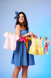 Het beeld van een zwangere vrouw. Royalty-vrije Stock Fotografie