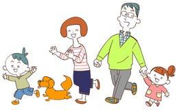 Het beeld van Familiegang royalty-vrije illustratie
