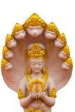 Het beeld van goden met Naga Royalty-vrije Stock Afbeeldingen