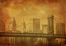Het beeld van Grunge van New York stad Royalty-vrije Stock Afbeeldingen