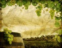 Het beeld van Grunge van wijnmakerij Royalty-vrije Stock Fotografie