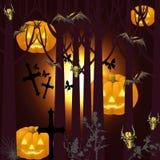 Het beeld van Halloween met knuppels Stock Fotografie