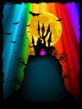 Het beeld van Halloween met oud herenhuis. EPS 8 stock illustratie