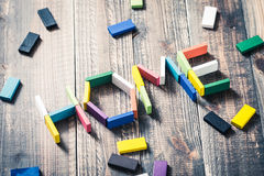 Het beeld van het alfabethuis Stock Afbeelding
