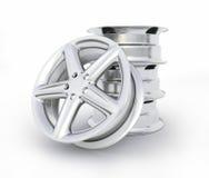 Het beeld van het aluminiumwiel het hoge - kwaliteit - 3D teruggeven Stock Fotografie