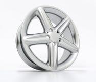 Het beeld van het aluminiumwiel het hoge - kwaliteit - 3D teruggeven Stock Foto