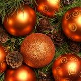 Het beeld van het close-up van mooie ballen Christams Stock Afbeeldingen