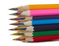 Veelkleurige potloden Stock Afbeelding