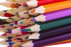 Veelkleurige potloden Stock Afbeeldingen